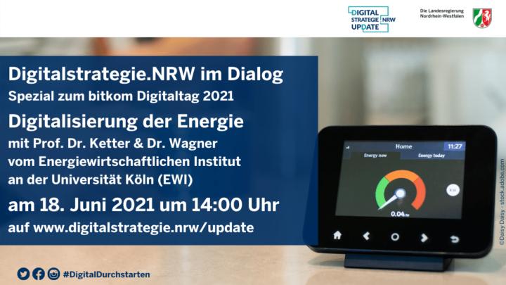 Digitalstrategie.NRW in dialog at Digitaltag 2021